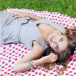 Beautiful girl in a park — Stock Photo