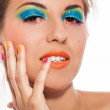 Woman with artistic makeup — Stock Photo #37052717