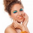 Woman with artistic makeup — Stock Photo #37052855