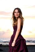 Beautiful girl in a dress — Stock Photo
