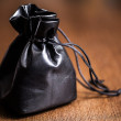 Stock Photo: Black pouch