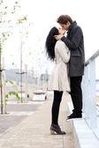 Lovely couple kissing — Stock Photo