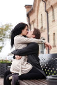 Lovely couple kissing — Stock Photo