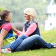 Young couple expressing their feelings at park — Stock Photo #37483673