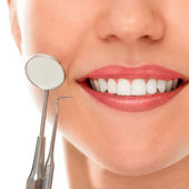 At a dentist with a smile — Stock Photo
