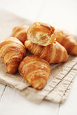 Fresh french croissants — Stock Photo