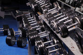 Set up with dumbbells — Stock Photo