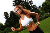 Beautiful middleaged woman working out — Stockfoto