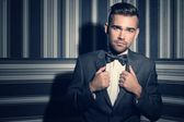 Handsome man in suit — Stock fotografie
