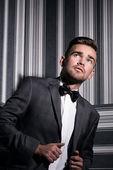 Handsome man in suit — Stock Photo