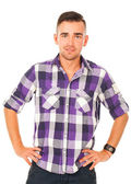Handsome guy in a shirt — Stock Photo
