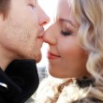 hermosa pareja en el parque — Foto de Stock   #39717703