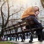 hermosa pareja en el parque — Foto de Stock   #39717857