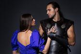 Knight ve prenses birbirimizi seviyoruz — Stok fotoğraf
