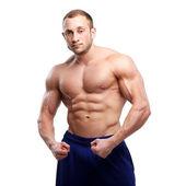 Bodybuilding. Man and his powerful body — ストック写真