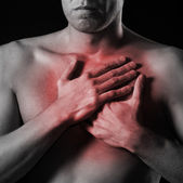 Man has heart attack — Stock Photo
