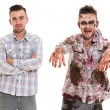 Creepy zombie cosplay — Foto de stock #39834263