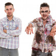 Stock Photo: Creepy zombie cosplay