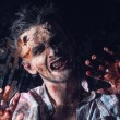 Creepy scary zombie — Foto de stock #39834327