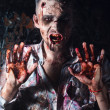 Creepy scary zombie — Foto de stock #39834337