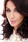 Wspaniała kobieta z piękną twarz — Foto de Stock