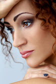 Gorgeous woman with beautiful face — Stock Photo