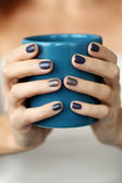 Blue mug — Stock Photo