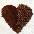 Coffee heart — Stock Photo #40661205
