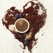 Coffee heart — Stock Photo #40661235