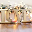Love and garland — Stock Photo