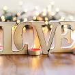 Love and garland — Stock Photo