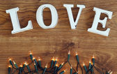 Amore e ghirlanda — Foto Stock