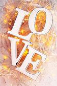 Love and garland — ストック写真