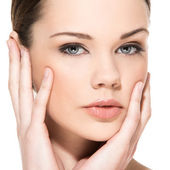 Lovely woman with perfect face — Stock Photo