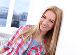 Beautiful smiling blonde woman — Stock Photo