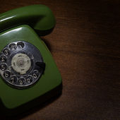 Vintage phone on the table — Stock Photo