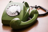 Old, vintage phone on table — Stock Photo