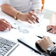 Details of working process at business meeting — Stock Photo #41989225