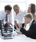 Group of businesspeople on meeting — Stock Photo