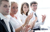 Businesspeople applauding during a meeting — Stock Photo