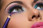Colorful makeup — Stock Photo