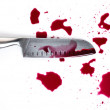 Stock Photo: Knife with blood
