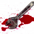 Stock Photo: Blood on white background