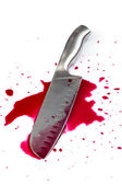 Knife with blood — Stock Photo