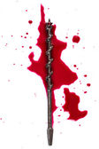 Blood on white background — 图库照片