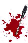 Blood on white background — Stock Photo