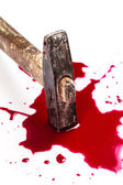 Blood on white background — Stockfoto