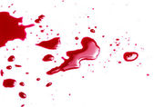 Blood on white background — Stock Photo