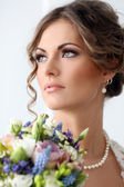 Wedding. Beautiful bride — Stock Photo