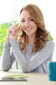 Beautiful woman with cute smile — Stock Photo